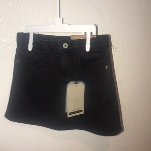 New with tags! Zara girls black jean skirt